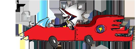 Quazar-car-flipped